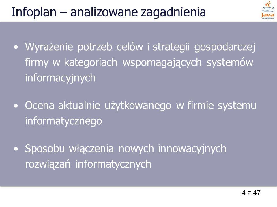 Infoplan – analizowane zagadnienia