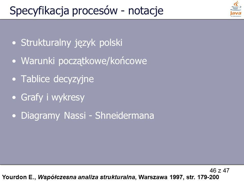 Specyfikacja procesów - notacje