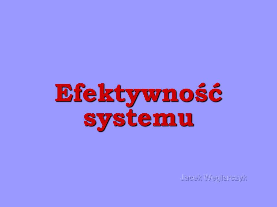 Efektywność systemu Jacek Węglarczyk