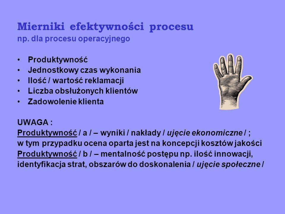 Mierniki efektywności procesu