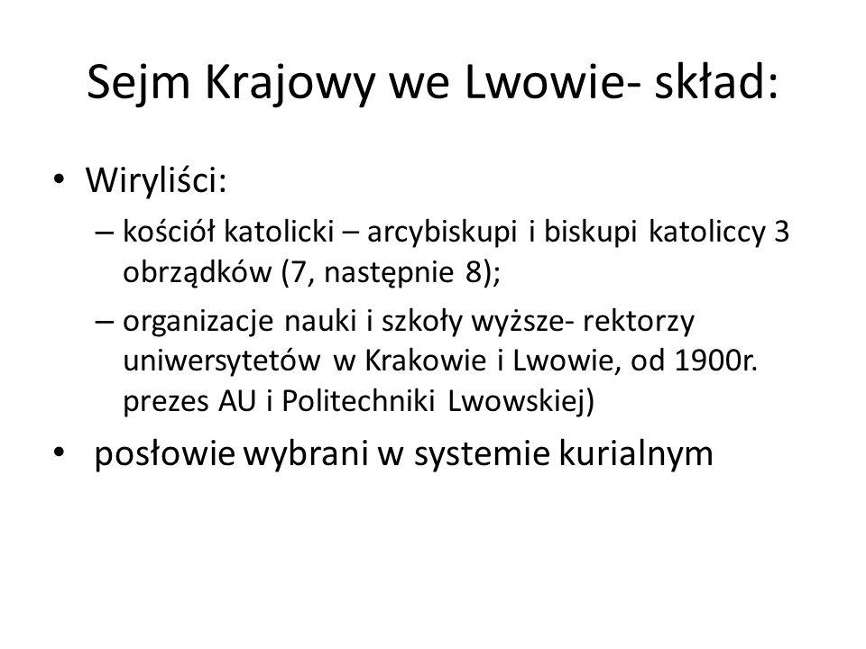 Sejm Krajowy we Lwowie- skład: