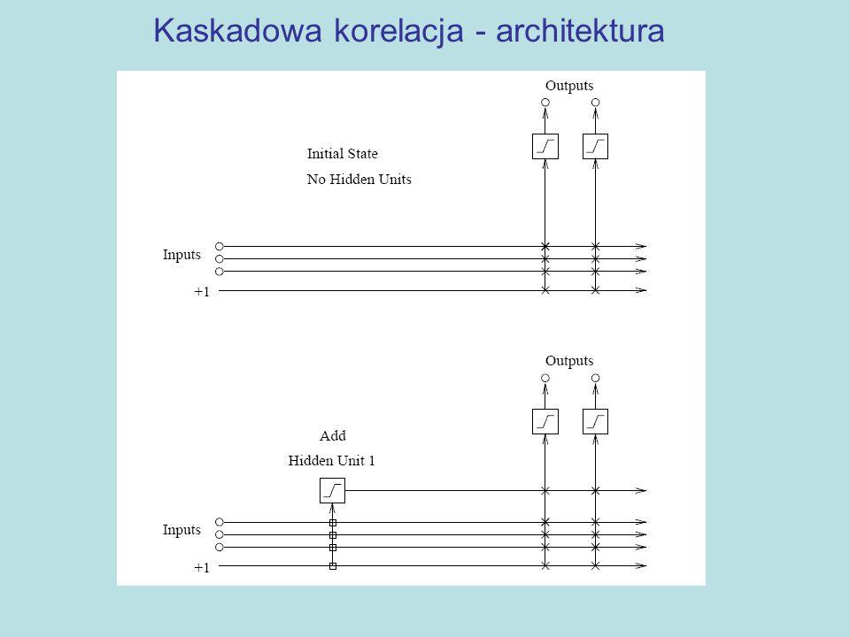 Kaskadowa korelacja - architektura