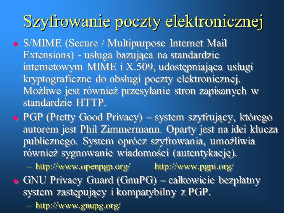 Szyfrowanie poczty elektronicznej