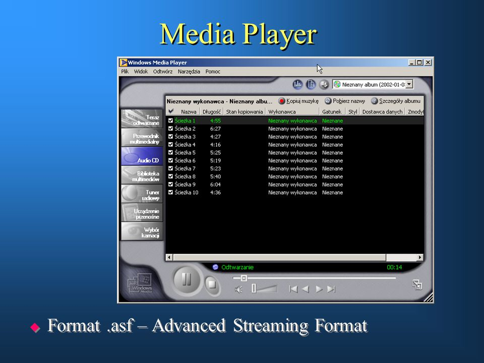 Media Player Format .asf – Advanced Streaming Format