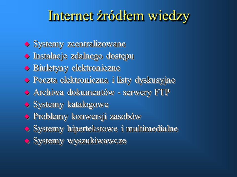 Internet źródłem wiedzy