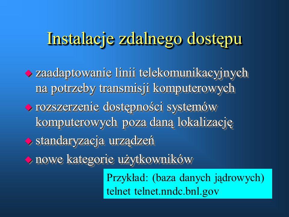 Instalacje zdalnego dostępu