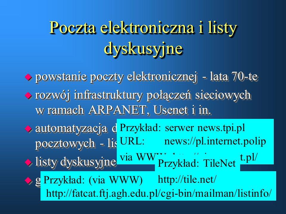 Poczta elektroniczna i listy dyskusyjne
