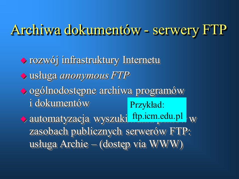 Archiwa dokumentów - serwery FTP