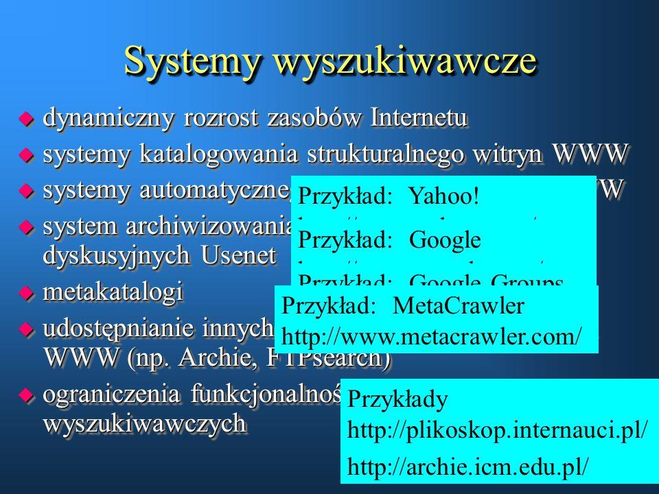 Systemy wyszukiwawcze