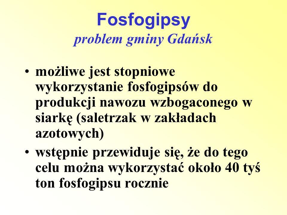 Fosfogipsy problem gminy Gdańsk