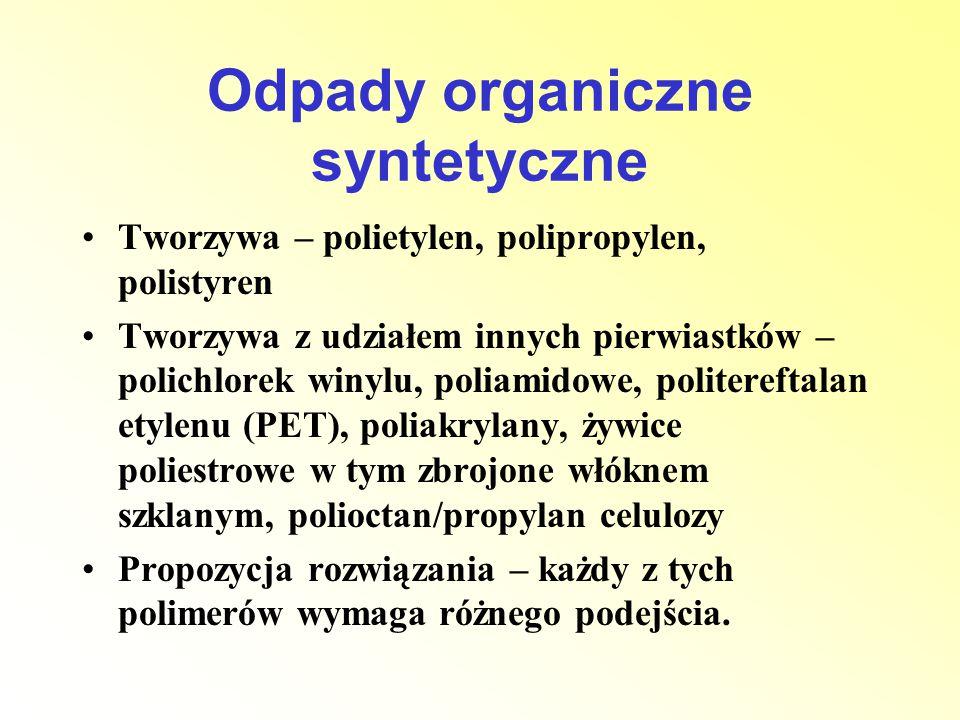Odpady organiczne syntetyczne