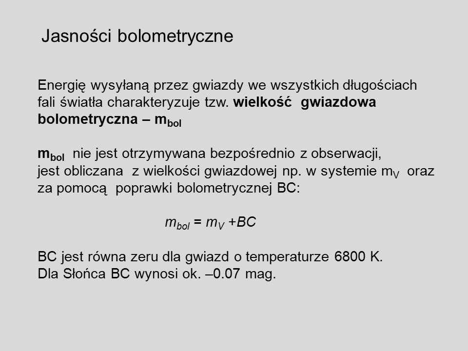 Jasności bolometryczne