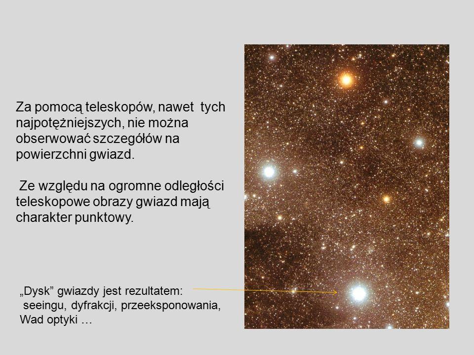 Za pomocą teleskopów, nawet tych najpotężniejszych, nie można
