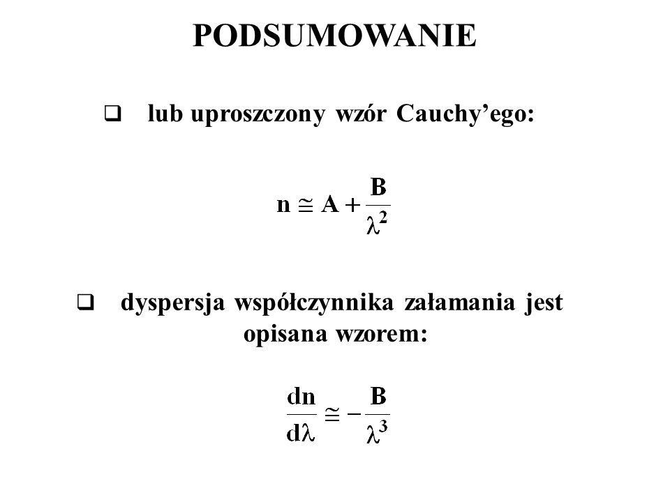 PODSUMOWANIE lub uproszczony wzór Cauchy'ego: