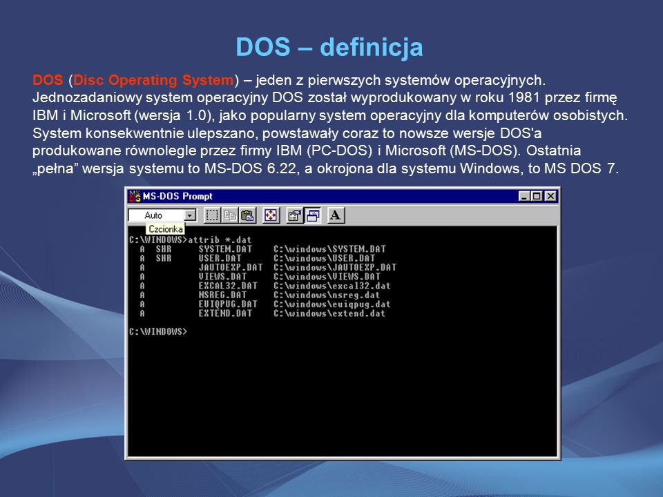 DOS – definicja