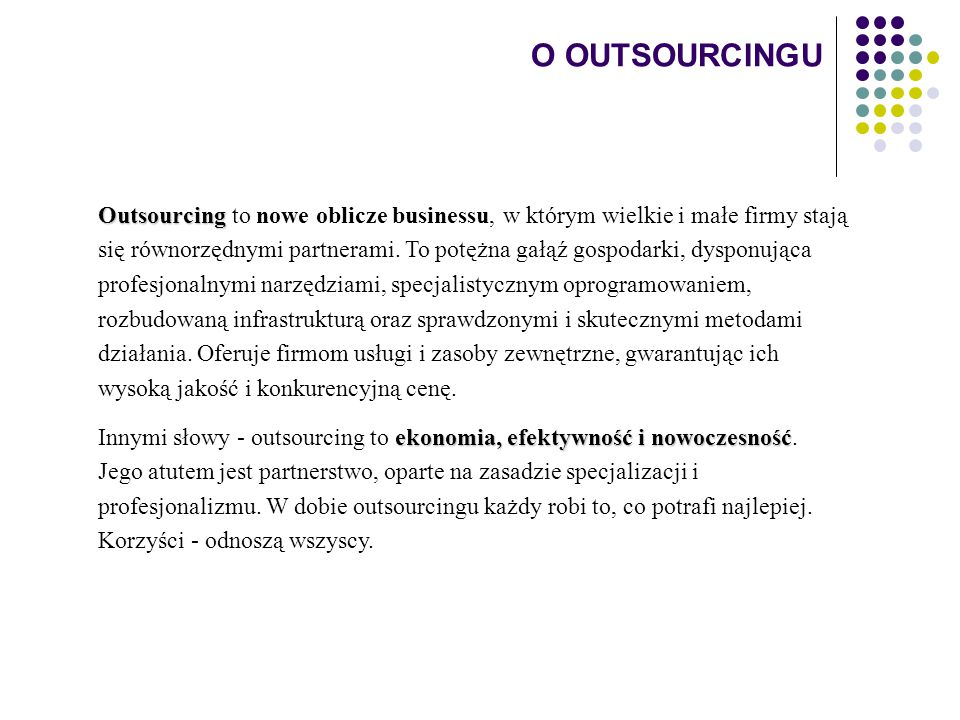 O OUTSOURCINGU