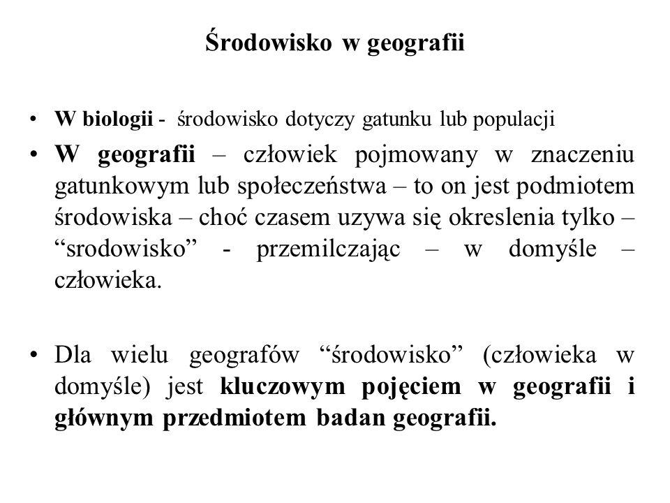Środowisko w geografii