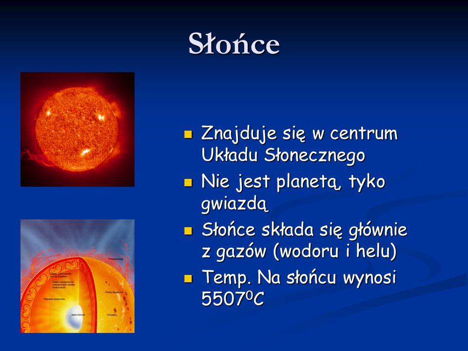 Słońce Znajduje się w centrum Układu Słonecznego