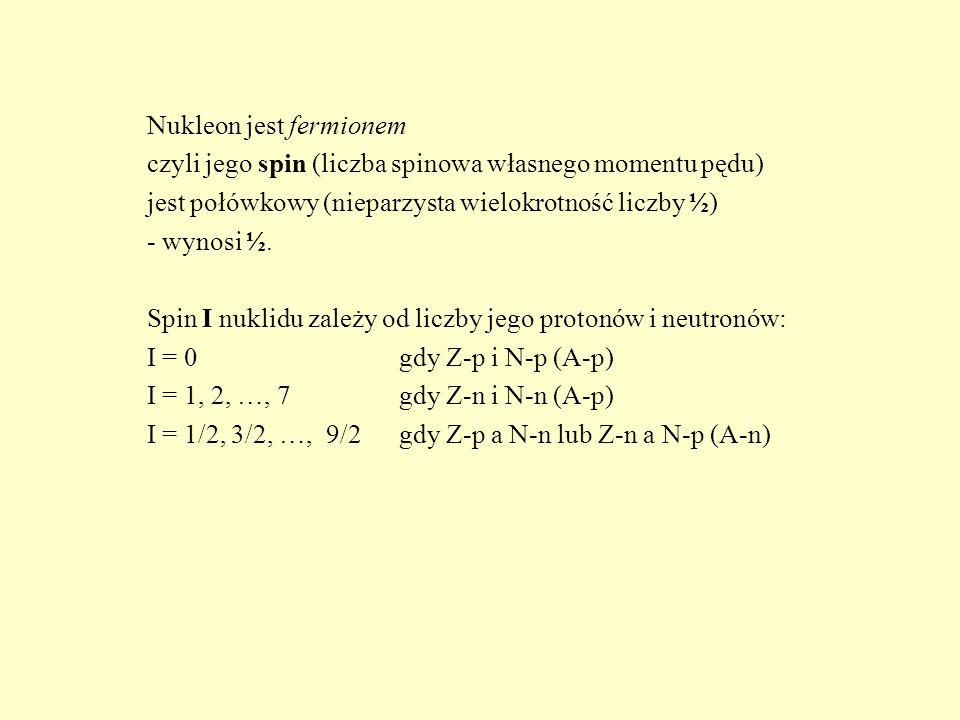 Nukleon jest fermionem