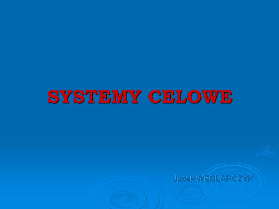 SYSTEMY CELOWE Jacek WĘGLARCZYK