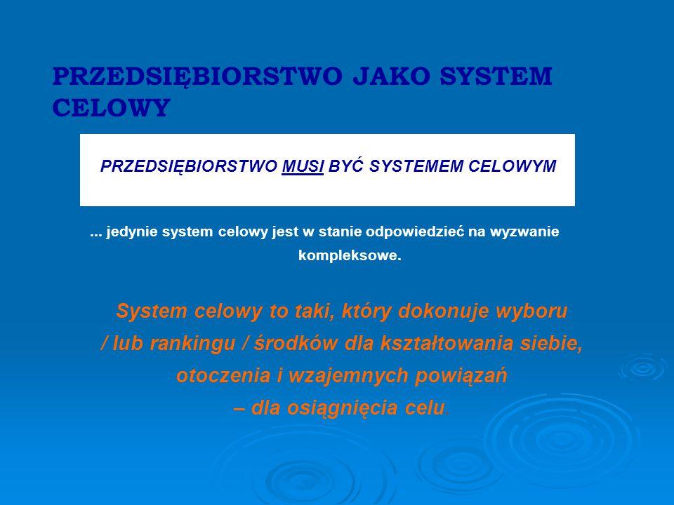 PRZEDSIĘBIORSTWO MUSI BYĆ SYSTEMEM CELOWYM