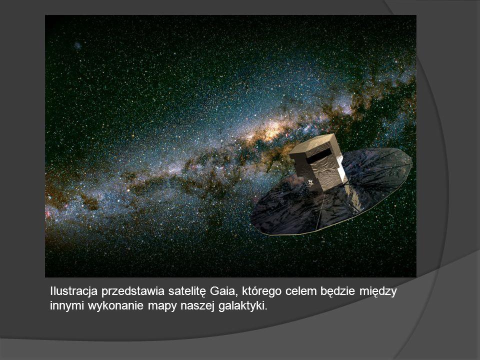 Ilustracja przedstawia satelitę Gaia, którego celem będzie między