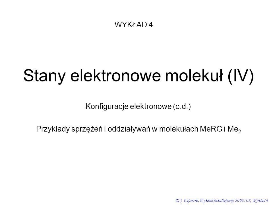 Stany elektronowe molekuł (IV)
