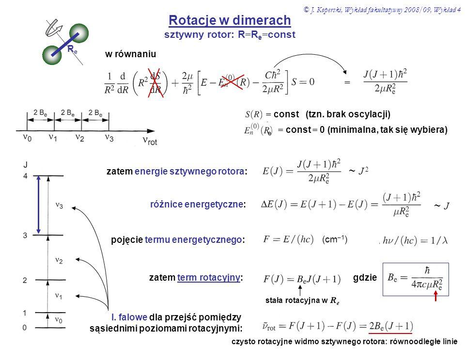 sztywny rotor: R=Re=const
