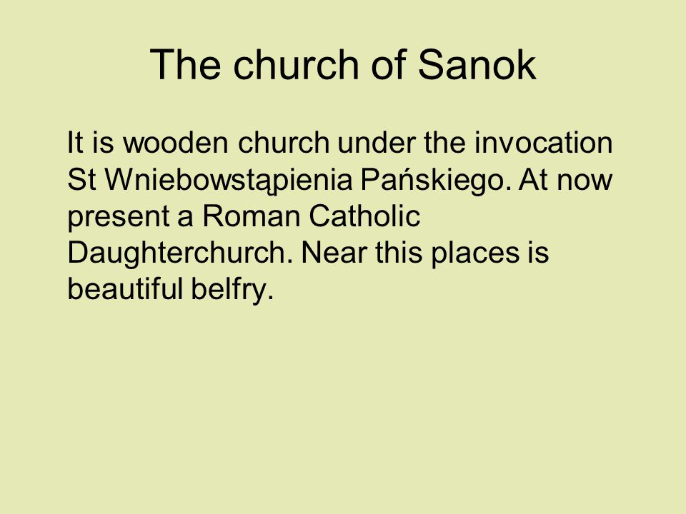 The church of Sanok