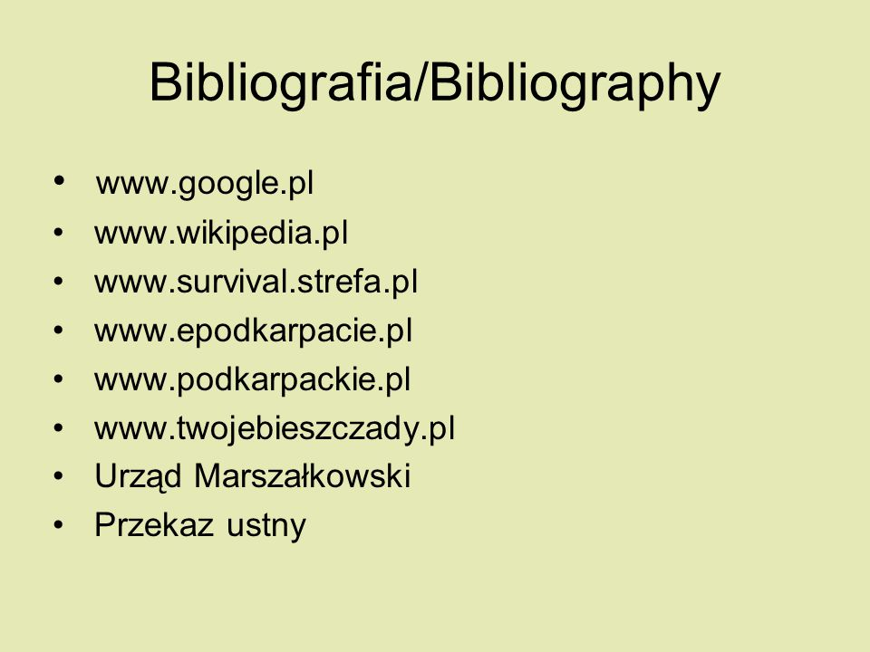 Bibliografia/Bibliography