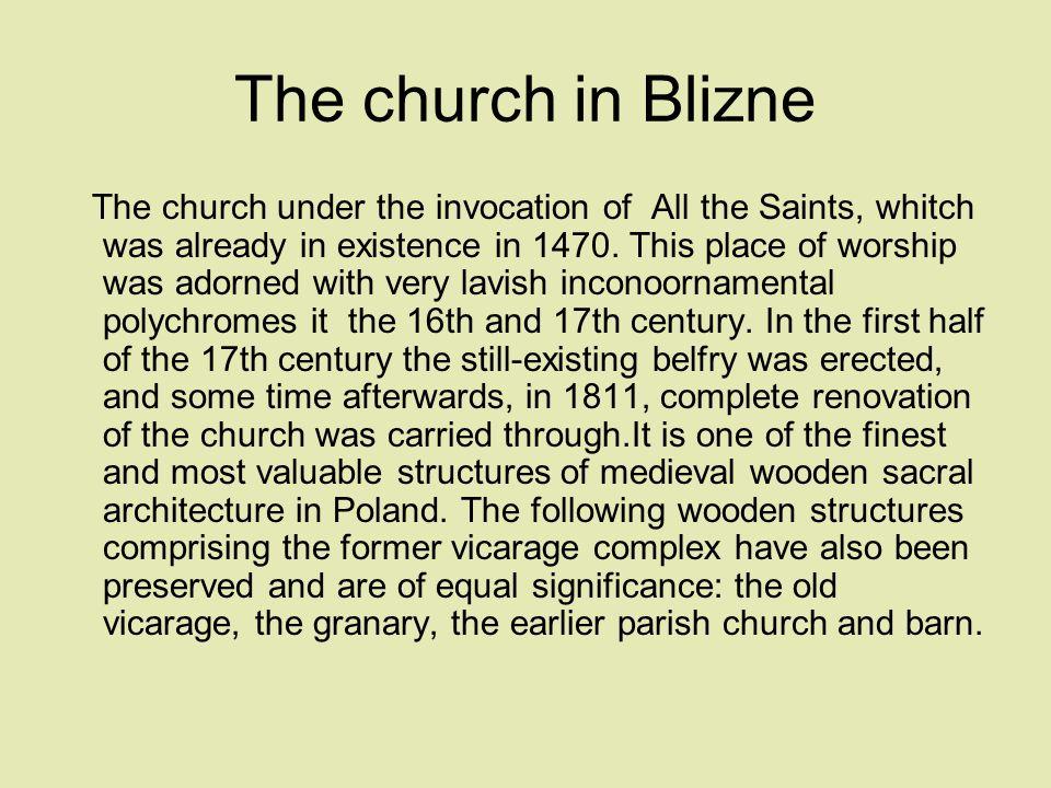 The church in Blizne