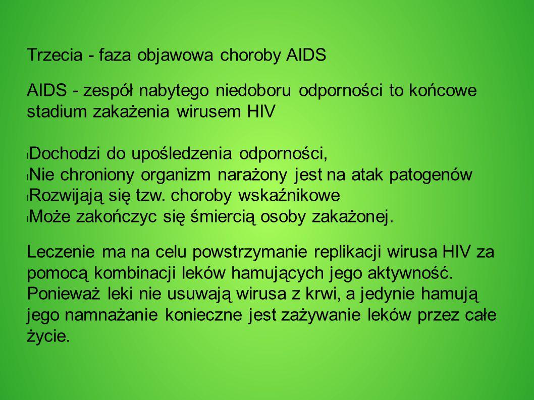 Trzecia - faza objawowa choroby AIDS