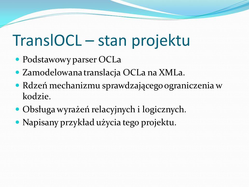 TranslOCL – stan projektu