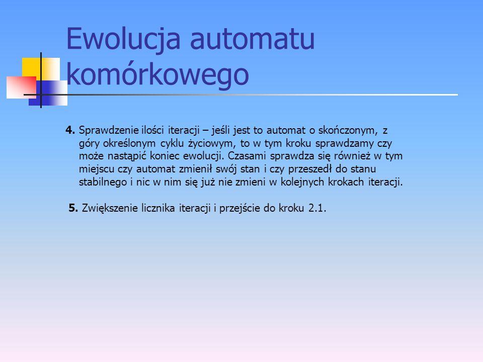 Ewolucja automatu komórkowego