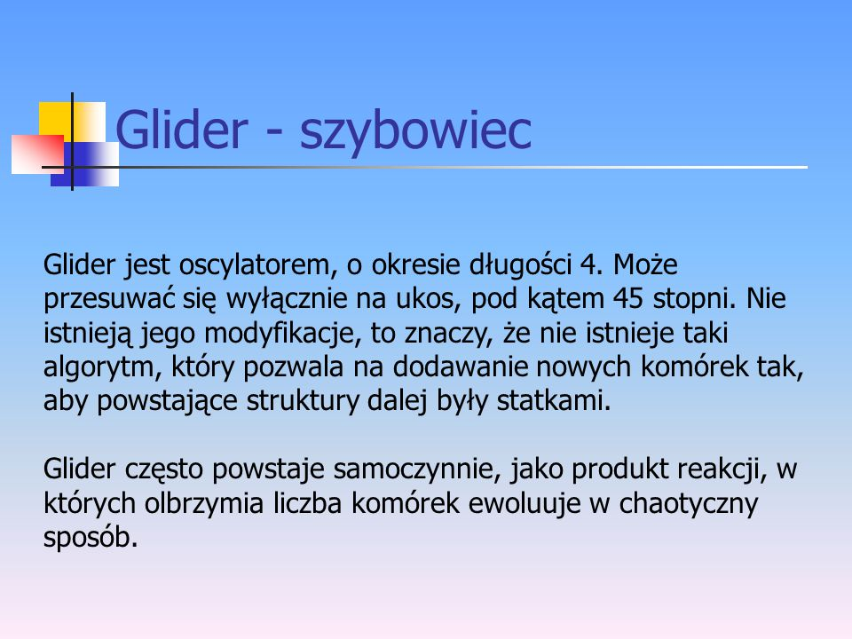 Glider - szybowiec