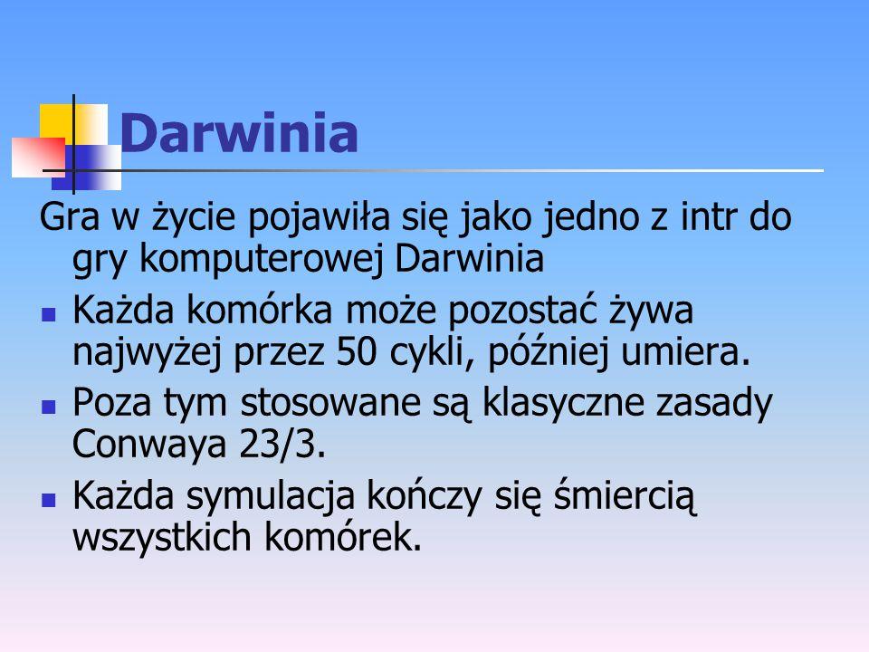 Darwinia Gra w życie pojawiła się jako jedno z intr do gry komputerowej Darwinia.