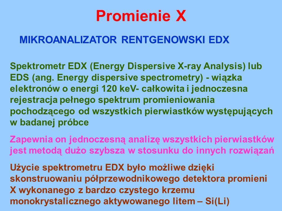 Promienie X MIKROANALIZATOR RENTGENOWSKI EDX