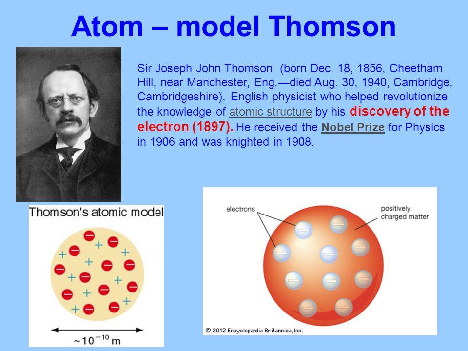 Atom – model Thomson