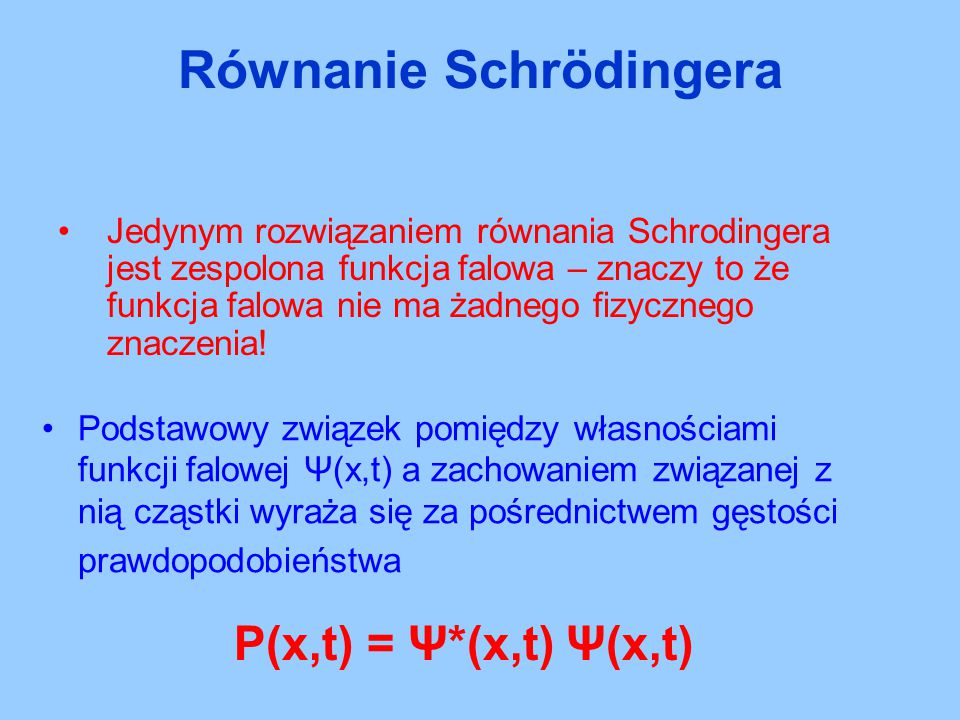 Równanie Schrödingera
