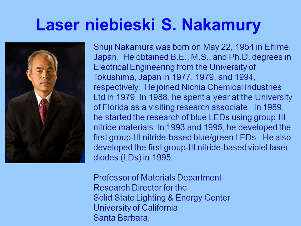 Laser niebieski S. Nakamury