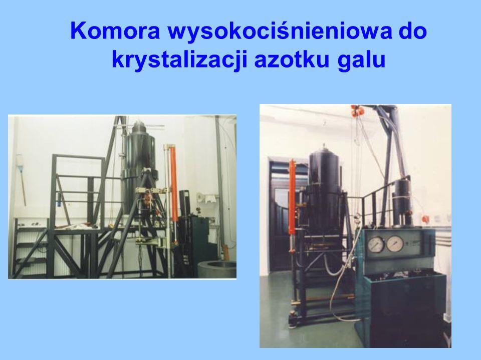 Komora wysokociśnieniowa do krystalizacji azotku galu