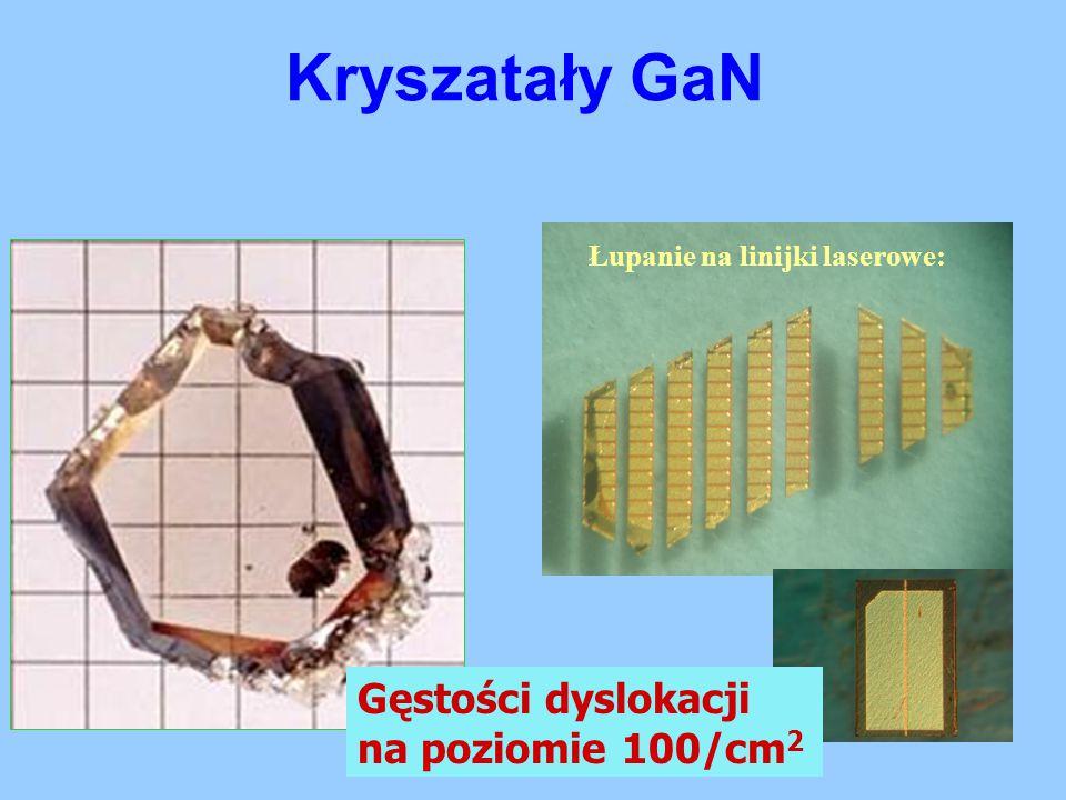 Kryszatały GaN Gęstości dyslokacji na poziomie 100/cm2