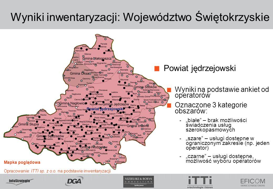 Wyniki inwentaryzacji: Województwo Świętokrzyskie