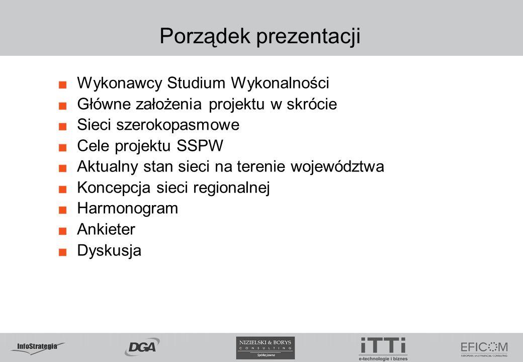 Porządek prezentacji Wykonawcy Studium Wykonalności