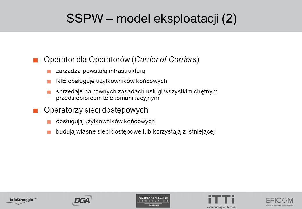 SSPW – model eksploatacji (2)