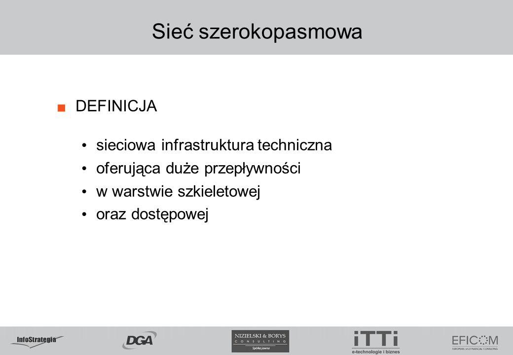 Sieć szerokopasmowa DEFINICJA sieciowa infrastruktura techniczna