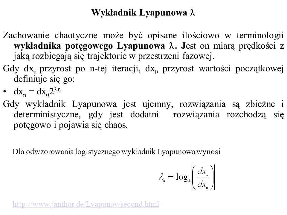 Wykładnik Lyapunowa l