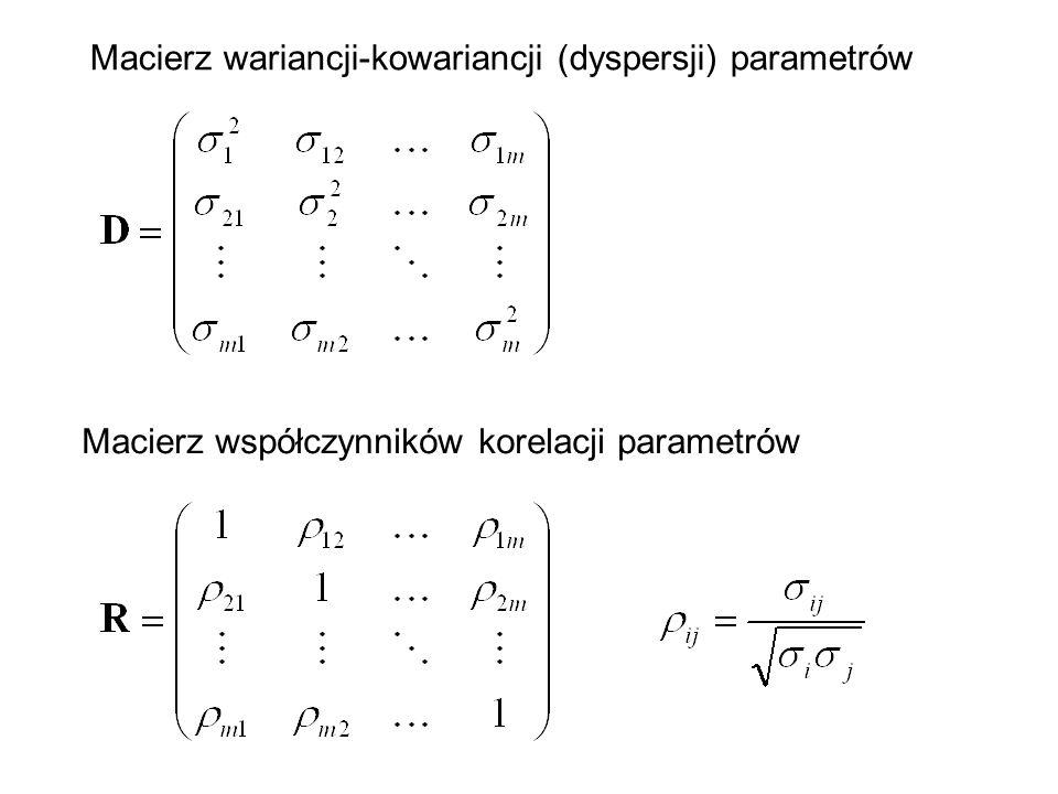 Macierz wariancji-kowariancji (dyspersji) parametrów
