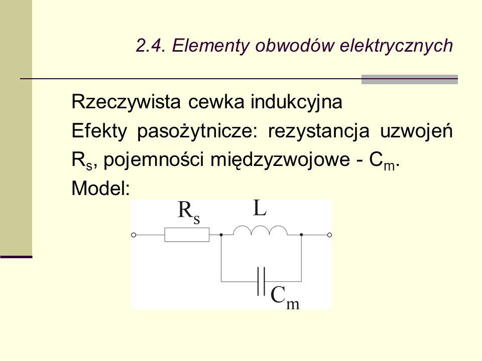 2.4. Elementy obwodów elektrycznych