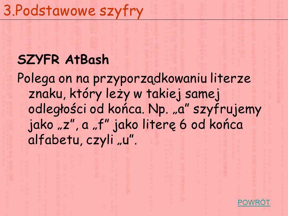 3.Podstawowe szyfry SZYFR AtBash